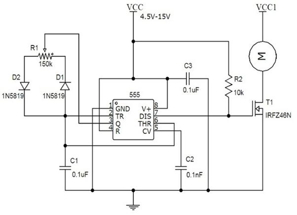 ZL_9173] Dc Motor Speed Controller Circuit Schematic Free Diagram