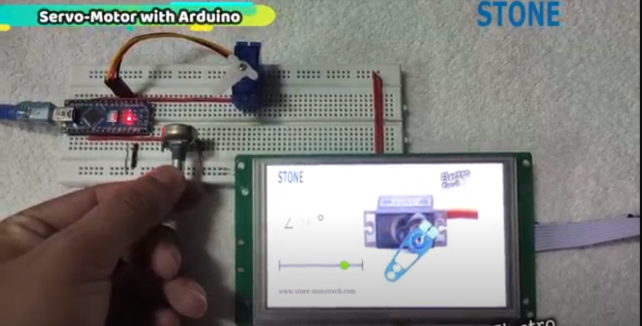 You are currently viewing Servo-Motor using Arduino with STONE-HMI display