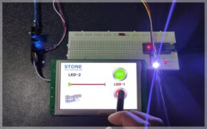 Read more about the article LED brightness controller  using TFT display