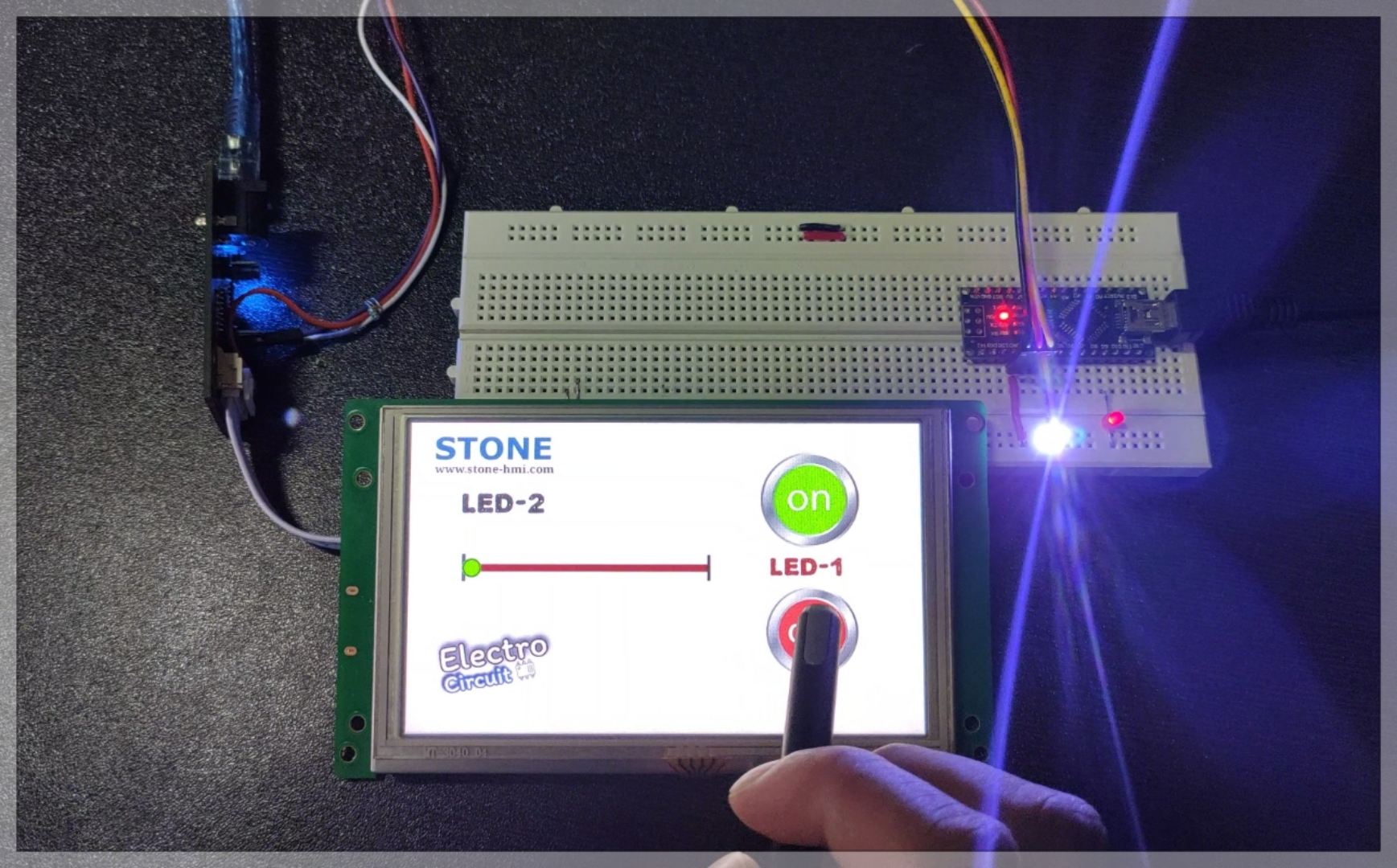 You are currently viewing LED brightness controller  using TFT display